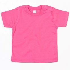 baby t-shirt bedrukt, baby shirt korte mouw, baby shirt fuchsia