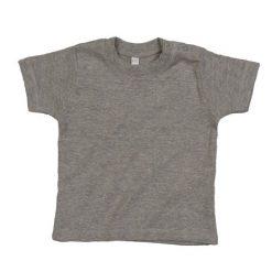 baby t-shirt bedrukt, baby shirt korte mouw, baby shirt grijs gemeleerd