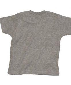 baby t-shirt bedrukt, baby shirt korte mouw, baby shirt grijs gemeleerd rug