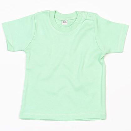 baby t-shirt bedrukt, baby shirt korte mouw, baby shirt mint