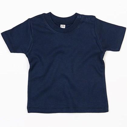 baby t-shirt bedrukt, baby shirt korte mouw, baby shirt navy