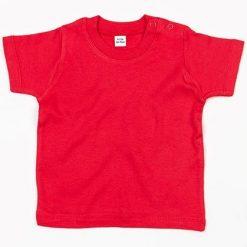 baby t-shirt bedrukt, baby shirt korte mouw, baby shirt rood