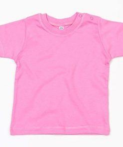 baby t-shirt bedrukt, baby shirt korte mouw, baby shirt roze