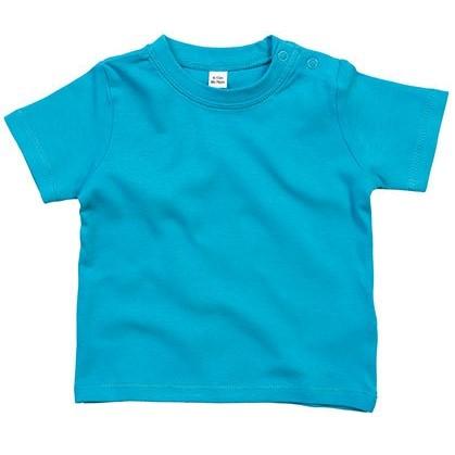 baby t-shirt bedrukt, baby shirt korte mouw, baby shirt turquoise