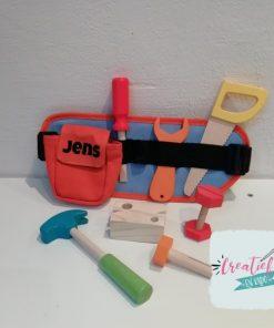 houten gereedschapsriem met naam, Jens