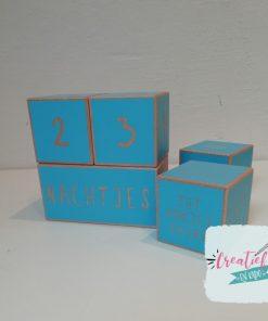 houten blokken, aftelblokken Xl, aftelblokken blauw