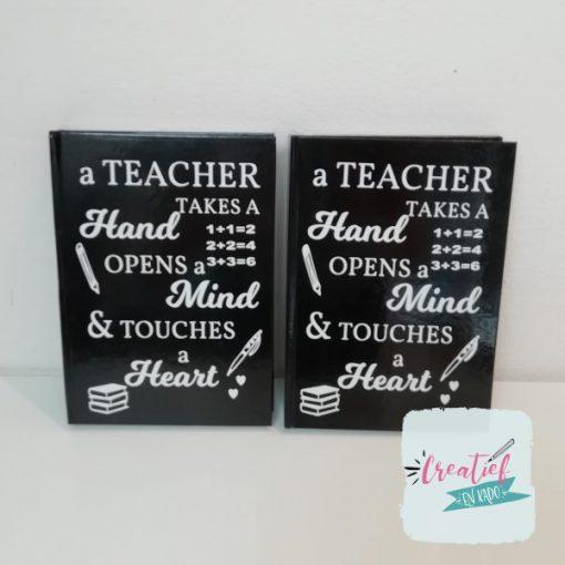 notitieboek teacher, cadeau juf, cadeau meester