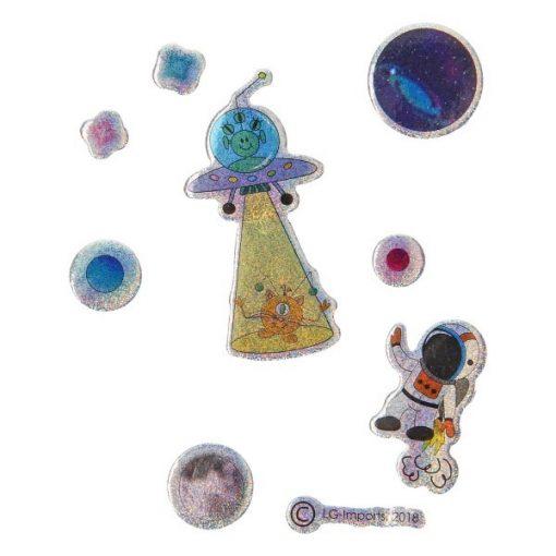 stickers ruimtevaart, glinsterend, ruimtevaart traktatie, astronaut traktatie, traktatie jongen, stickervel traktatie