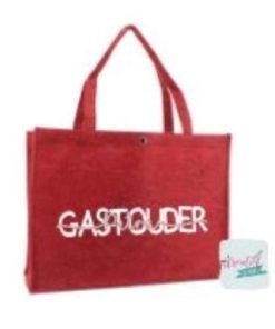 vilten tas gastouder, vilten tas beroep, vilten tas met naam, vilten tas rood XL
