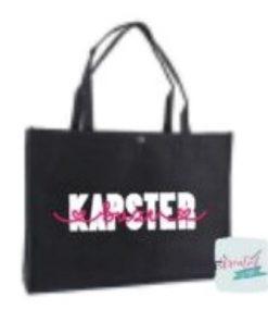 vilten tas kapster, vilten tas beroep, vilten tas werk, vilten tas met naam, vilten tas zwart XL