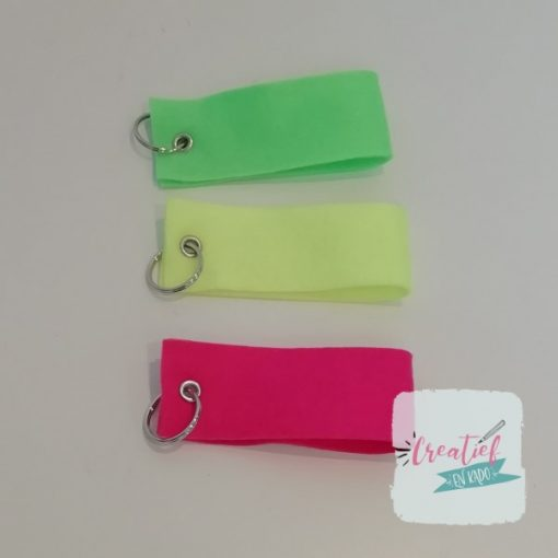 sleutelhanger neon geel, sleutelhanger neon roze, sleutelhanger neon groen