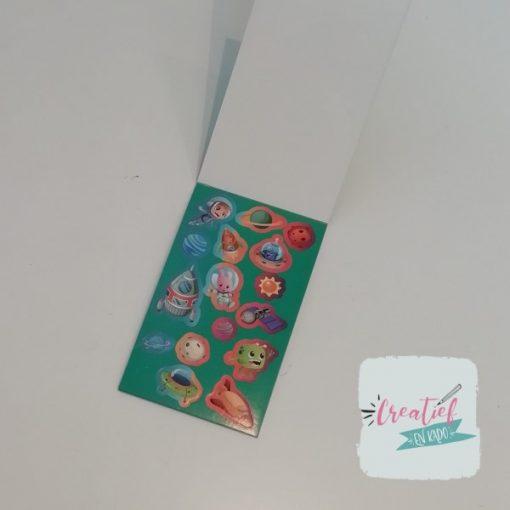 stickerboekje ruimtevaart, astronaut stickers