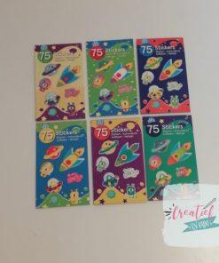 stickerboekjes ruimtevaart, stickers astronaut