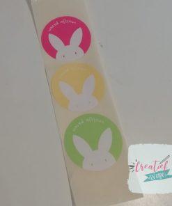 sticker vrolijk pasen, sluitzegel Pasen