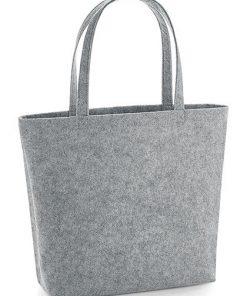 vilten shopper grijs, luxe vilten tas grijs,