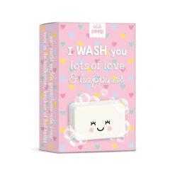 zeep I WASH you lots of love & happiness, zeep liefde en geluk, studio schatkist
