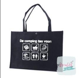 vilten camping tas, vilten shopper camping, vilten tas logo's, vilten tas navy blauw