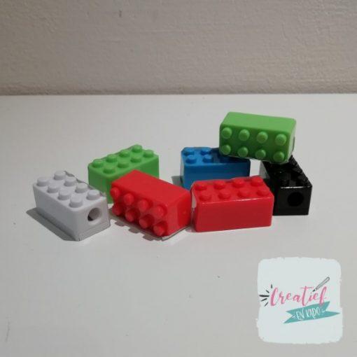 puntenslijper bouwsteen, lego puntenslijper, lego traktatie, lego uitdeelkadootjes