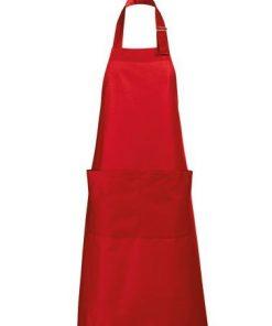 keukenschort rood, keukenschort met eigen tekst
