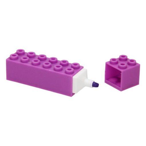 markeerstift bouwsteen paars