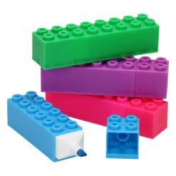 markeerstift bouwsteen, lego traktatie, marker bouwsteen, traktatie jongens, kleurrijke traktatie