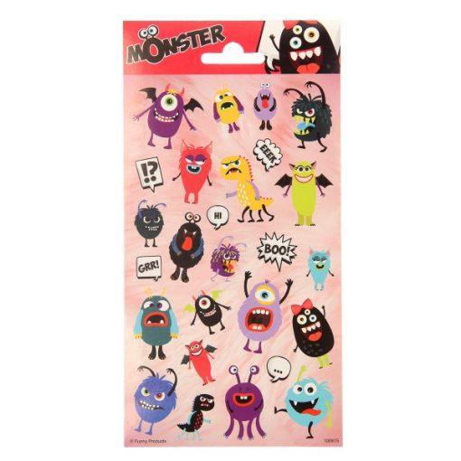 monster stickervel, monster traktatie, monster stickers,uitdeelkadootjes