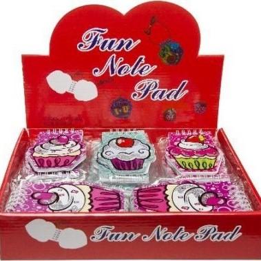 cupcake notitieboekje, muffin notitieboekje