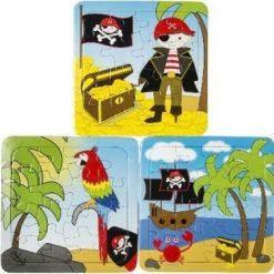 piraat puzzel, piraten traktatie, jongens traktatie, piraten uitdeelkadootjes.