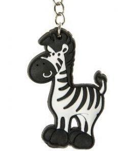 zebra sleutelhanger, dieren sleutelhanger, zwartwit traktatie, zebra traktatie