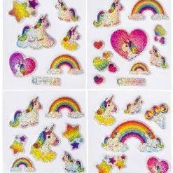 eenhoorn stickers glitter, unicorn stickers, eenhoorn traktatie, unicorn uitdeelkadootjes, meisjes traktatie
