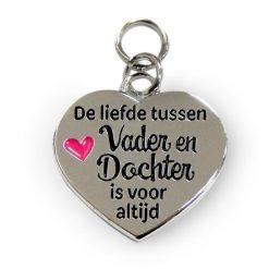 charm for you vader en dochter, bedel vader en dochter, cadeau vaderdag, cadeau vader, de liefde tussen vader en dochter is voor altijd