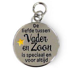 charm for you Vader & Zoon, bedel papa, cadeau Vaderdag, De liefde tussen vader en zoon is speciaal en voor altijd