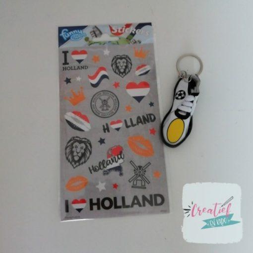Holland stickervel traktatie, Nederland traktatie, voetbal traktatie, EK traktatie, jongens traktatie