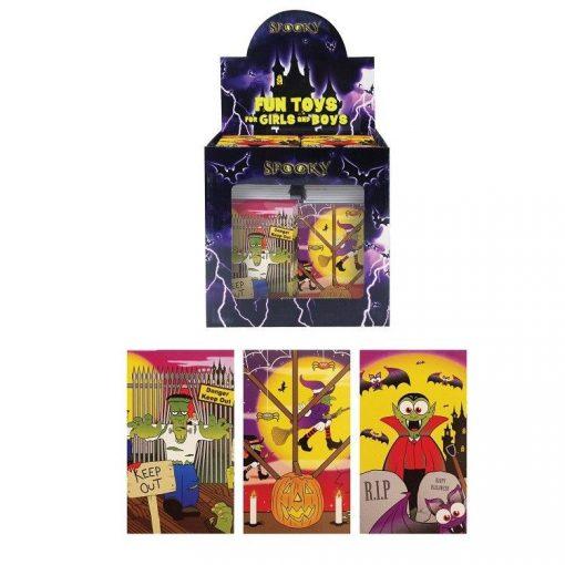 halloween notitieboekje, halloween traktatie, griezel traktatie