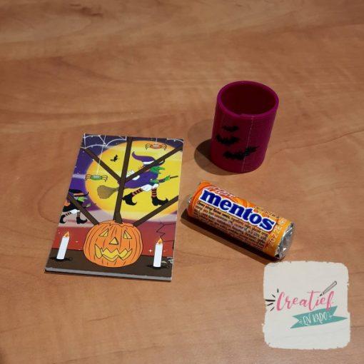 halloween notitieboekje traktatie los, trakteren met halloween, oktober traktatie