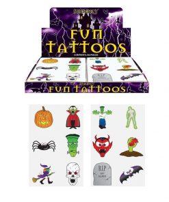 halloween tattoos, halloween tatoeage, griezel traktatie, plak tatoeage