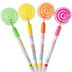 balpen lolly, balpen snoep, gekleurde balpennen, snoep traktatie