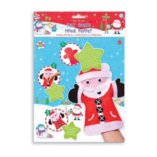maak je eigen handpop kerstman, kerstman handpop, diy kerstmis