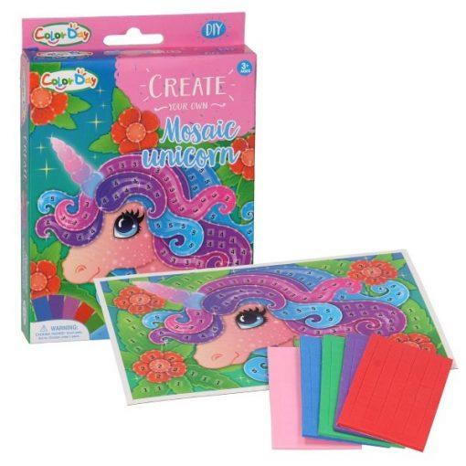 maak je eigen mozaiek eenhoorn, eenhoorn diy, diy pakket, knutsel pakket, knutsel eenhoorn