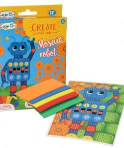 maak je eigen mozaiek robot, mozaiek robot, diy robot, diy pakket, knutsel robot