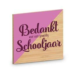 onderzetter schooljaar, onderzetter bedankt voor een geweldig schooljaar, cadeau juf, cadeau meester, thee pakket, koffie pakket