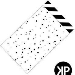 papieren zakje stip, cadeau zakje stip, papieren zakje zwartwit, papieren zakje 12x19 cm