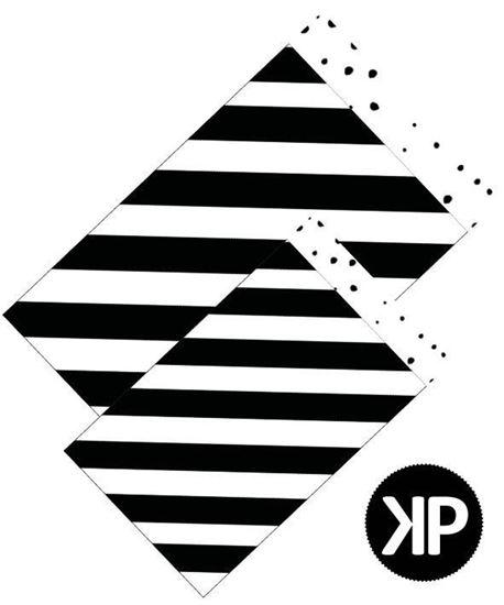 papieren zakje diagonaal zwartwit, cadeau zakje diagonaal zwartwit, papieren zakje 17x25 cm