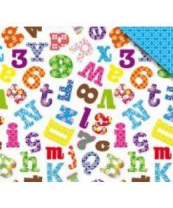 papieren zakje alfabet, cadeau zakje letters en cijfers