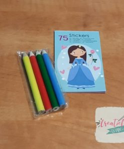 prinses stickerboekje traktatie, meisjes traktatie, thema traktatie