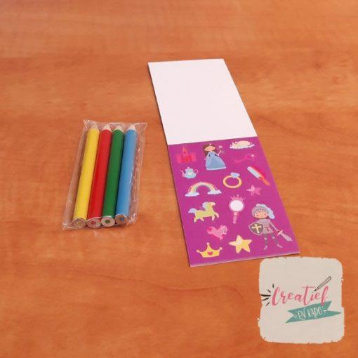 prinses stickerboekje traktatie