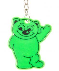 sleutelhanger beer fluor groen, het was beregezellig, afscheidstraktatie, dag dag traktatie,