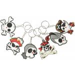 sleutelhanger piraat doodskoppen, piraten sleutelhanger, sleutelhanger halloween, griezel traktatie, stoere traktatie