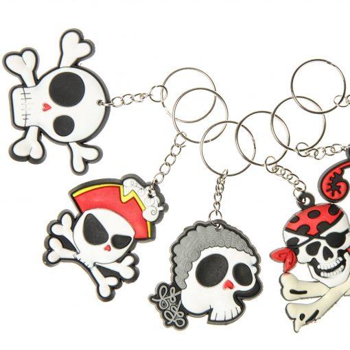 sleutelhanger piraat, sleutelhanger skull, sleutelhanger doodskoppen, piraten traktatie