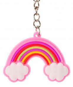 regenboog sleutelhanger, eenhoorn traktatie, meisjes traktatie, roze traktatie